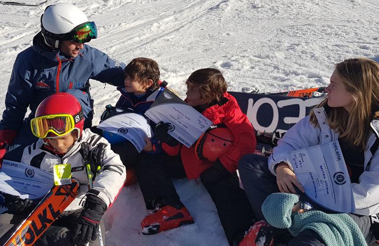 clases esqui niños Sierra Nevada